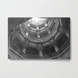 Stepwell of Ahmedabad, Monument, Gujarat, India Metal Print