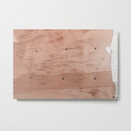 Plywood shipboard with nails and screws Metal Print