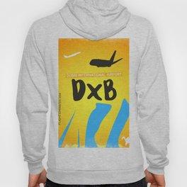 Airport code. Dubai. DXB Hoody