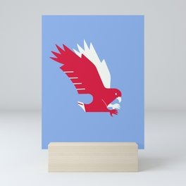 White-tailed eagle - Poland national symbol, flag colors Mini Art Print