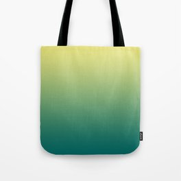 Yellow Lime Quetzal Green Ombre Gradient Pattern Tote Bag