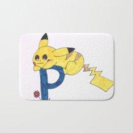 P is for Pika Chu Bath Mat