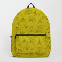 Golden Yellow Ginkgo Pattern Backpack