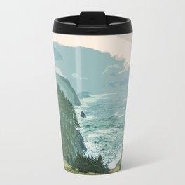 Oregon Coast Sunrise in Simplified Color Travel Mug