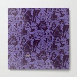 Dapper Dogs_Purple Metal Print