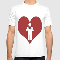 T-Shirt I Love Photography T-Shirt MEDIUM Mens Fitted Tee White