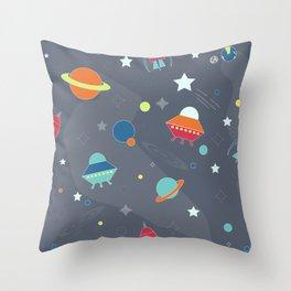 Space-Kids Throw Pillow