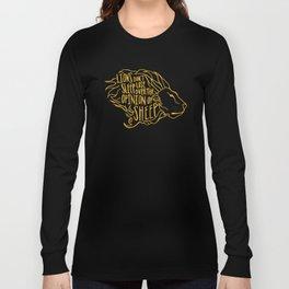 Lions don't lose sleep Long Sleeve T-shirt