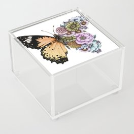 Butterfly in Bloom II Acrylic Box
