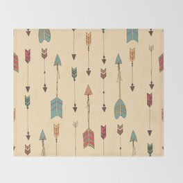 Bohemian hand drawn arrows, 01 Throw Blanket