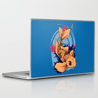 koi fish Laptop & iPad Skins featuring koi fish by Pinkspoisons