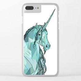 Unicorn prism Clear iPhone Case
