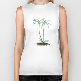 two palm trees watercolor Biker Tank