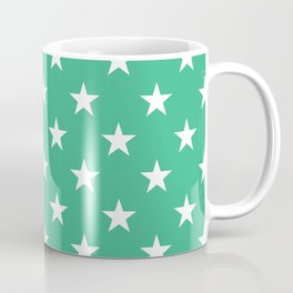 Stars (White/Mint) Coffee Mug