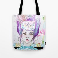 arya Tote Bags featuring Arya by ChristyAnne