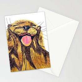Happy otter Stationery Cards