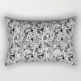 Like boys b&w Rectangular Pillow