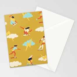 Skateboarding of 70s Stationery Cards