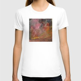 Flaming Sunrise Over the Mountaintop: Abstract Painting T-shirt
