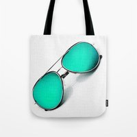 sunglasses Tote Bags featuring SUNGLASSES by Ylenia Pizzetti