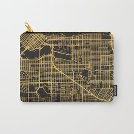 VANCOUVER CANADA GOLD ON BLACK CITY MAP Carry-All Pouch
