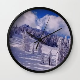 Oregon Winter Scenery Wall Clock