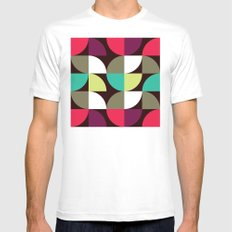 Quater circle shape pattern Mens Fitted Tee MEDIUM White