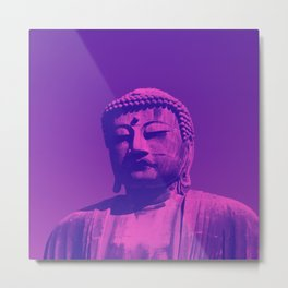 Aware Buddha Metal Print