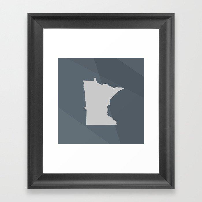 Minnesota State Framed Art Print