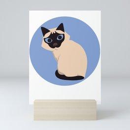 Black and Brown Cat Side View Mini Art Print