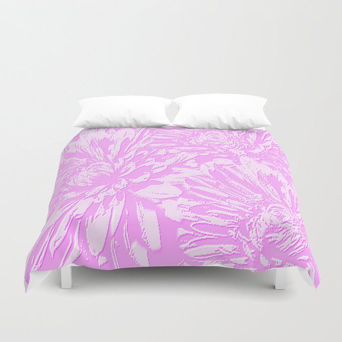 In The Pink Floral Abstract Duvet Cover
