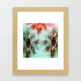 Egyptian Palm Trees Kaleidoscope Framed Art Print