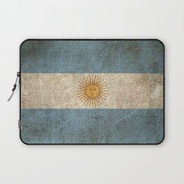 Old and Worn Distressed Vintage Flag of Argentina Laptop Sleeve