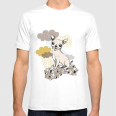 Chihuahua White SMALL Mens Fitted Tee