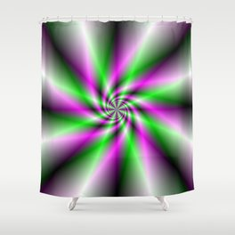 Spark Generator Shower Curtain
