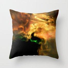 Molten Glow Throw Pillow
