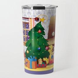 Merry Christmas Cat and Dog Travel Mug