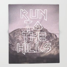 Run To The Hills Throw Blanket