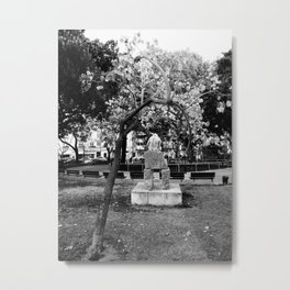 Black and White sculpture Metal Print
