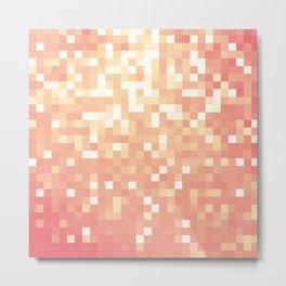 Peach Sparkle Pixels Metal Print