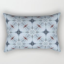 American Folk Red & Blue No. 04 Rectangular Pillow