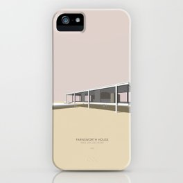 Farnsworth House Mies van der Rohe iPhone Case