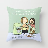 baking Throw Pillows featuring Baking Advice by Sophie Corrigan