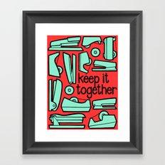 keep it together Framed Art Print