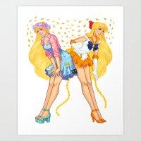sailor venus Art Prints featuring Sailor Venus by Jen Bartel