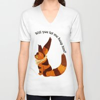 nausicaa V-neck T-shirts featuring Teto the Fox-Squirrel by HSuits