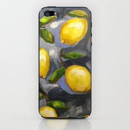 Lemons on Blue iphone cover iPhone Skin