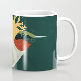Ruby-Throated Hummingbird Coffee Mug