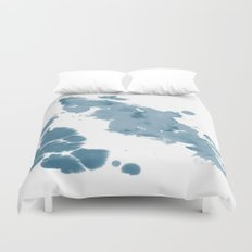 Paint 11 abstract indigo blue modern minimal art print affordable stretched canvas home decor art  Duvet Cover