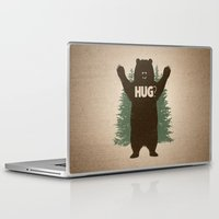 hug Laptop & iPad Skins featuring Bear Hug by powerpig